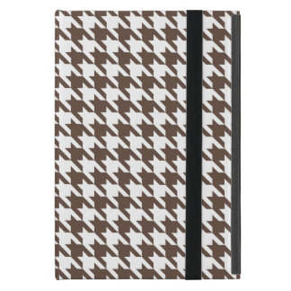Chocolate Brown Houndstooth Cover For iPad Mini