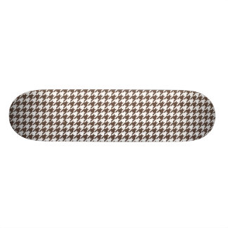 Chocolate Brown Houndstooth Skateboard