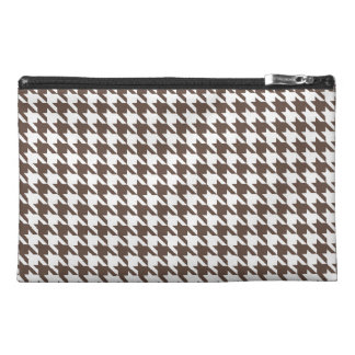 Chocolate Brown Houndstooth Travel Accessory Bag