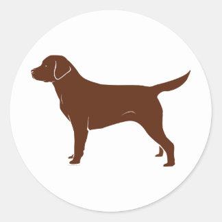 Chocolate Brown Labrador Retriever Classic Round Sticker
