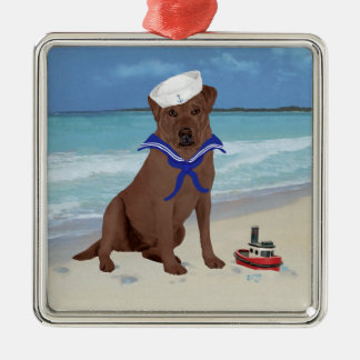 Chocolate Brown Labrador Retriever Ornament