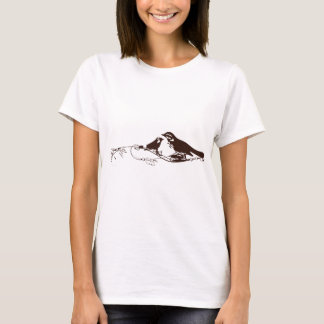 Chocolate Brown Lovebirds T-Shirt