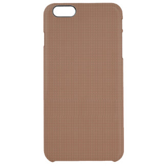 Chocolate Brown Microdot Patterned Uncommon Clearly™ Deflector iPhone 6 Plus Case