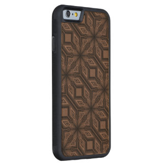 Chocolate Brown Mosaic iPhone 6 Wood Case