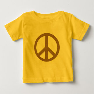 Chocolate Brown Peace Symbol Products Baby T-Shirt