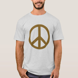 Chocolate Brown Peace Symbol Products T-Shirt