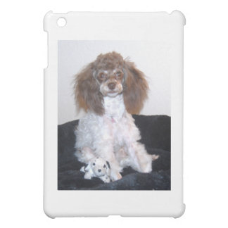 Chocolate Brown Phantom Parti Poodle Pup Cover For The iPad Mini