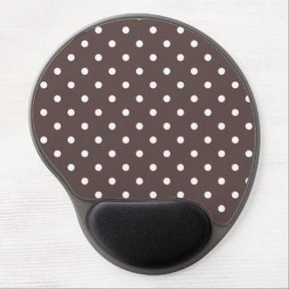 Chocolate Brown Polka Dot Gel Mousepad