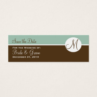 Chocolate & Brown Save the Date Card