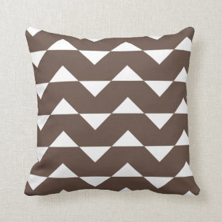 Chocolate Brown Sparre Pattern Accent Pillow