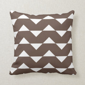 Chocolate Brown Sparre Pattern Throw Pillow