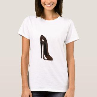 Chocolate brown stiletto shoe T-Shirt