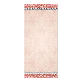 Chocolate brown swirls holiday gift rack card