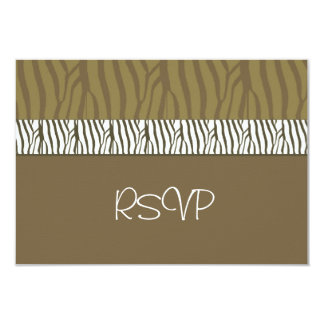 Chocolate Brown Wedding RSVP Card