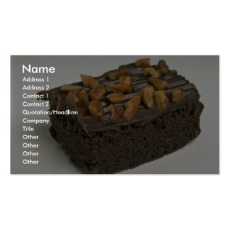 Chocolate brownie cake for food lovers Double-Sided standard business cards (Pack of 100)