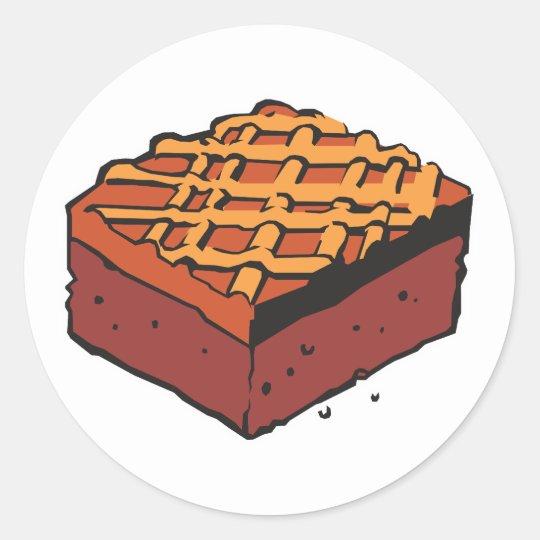chocolate brownie classic round sticker
