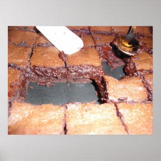 chocolate brownies poster