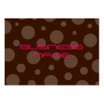 Chocolate bubble gum profile cards business card templates