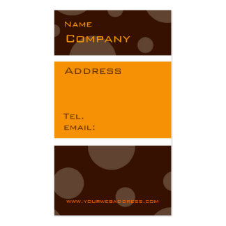 chocolate bubble orange, vertical profile cards Double-Sided standard business cards (Pack of 100)