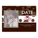 Chocolate bubbles/, Save the Date Photo postcards,