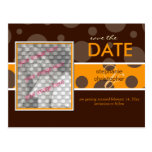 Chocolate bubbles/Save the Date Photo postcards,