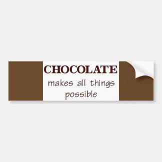 Chocolate Bumper Sticker