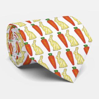 Chocolate Bunnies Carrots Easter Bunny Rabbit Tie