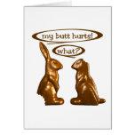 Chocolate bunnies greeting card