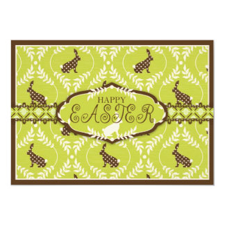 Chocolate Bunnies Invitation Card A7