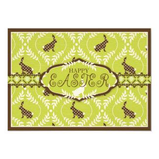 Chocolate Bunnies Invitation Card A7 B