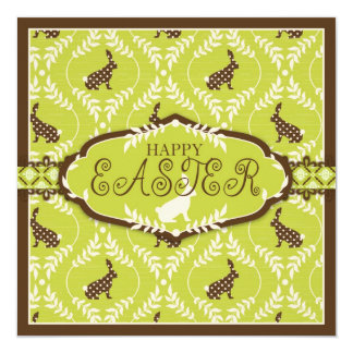 Chocolate Bunnies Invitation Square