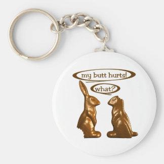 Chocolate bunnies keychain