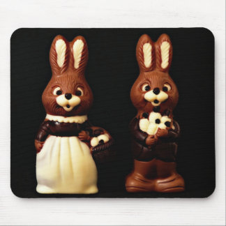 Chocolate bunnies mouse pad