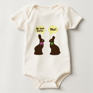 Chocolate bunnies My butt hurts.. What? Baby Bodysuit