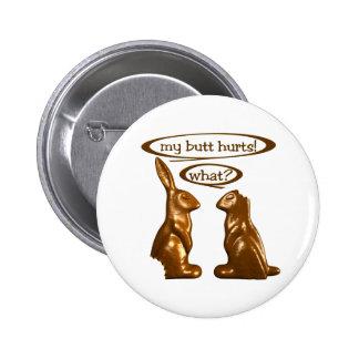 Chocolate bunnies pinback button