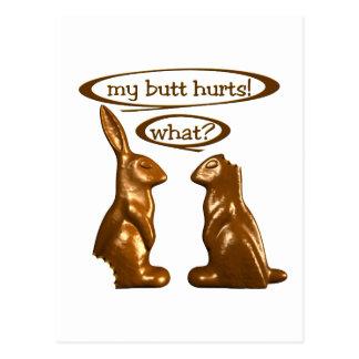 Chocolate bunnies postcard