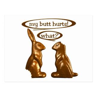 Chocolate bunnies postcards