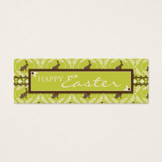 Chocolate Bunnies Skinny Gift Tag