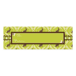 Chocolate Bunnies Skinny Gift Tag 2 Business Card