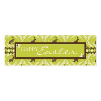 Chocolate Bunnies Skinny Gift Tag Business Card