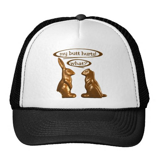 Chocolate bunnies trucker hat