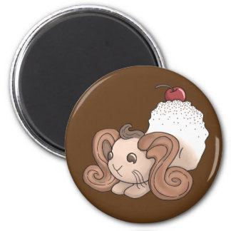 Chocolate Bunny 2 Inch Round Magnet