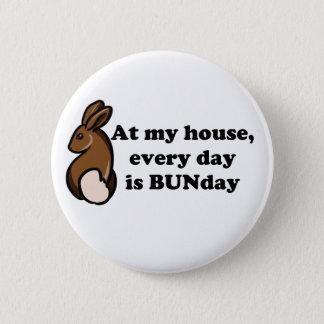 Chocolate bunny bunday pin