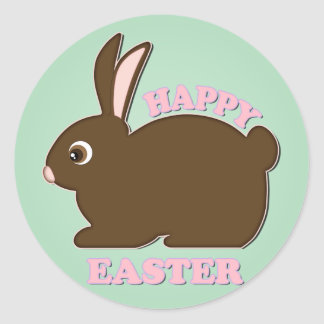 Chocolate Bunny Classic Round Sticker