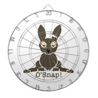 Chocolate bunny dart board