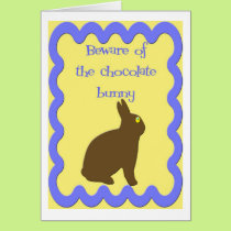 Chocolate Bunny  (Easter) Card