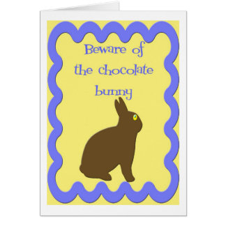Chocolate Bunny  (Easter) Greeting Card