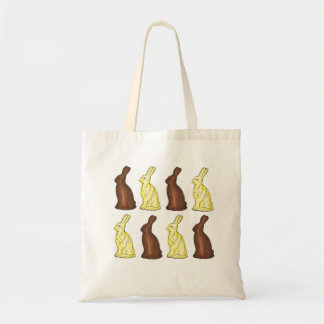 Chocolate Bunny Easter Rabbit Candy Tote