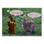 Chocolate Bunny Greeting Card