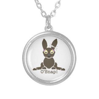 Chocolate bunny necklace